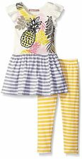 JELLY THE PUG Girls 2T 3T Isabella Pineapple Parfait Dress Legging Set Outfit