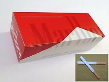 NEW Marlboro Red King size cigarette tubes 15mm filter like Make your own rizla