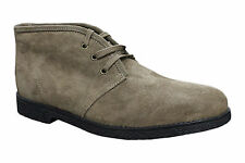 SCARPE DESERT BOOTS MAN DIAMOND BEIGE SUEDE 100% MADE IN ITALY CASUAL SHOES