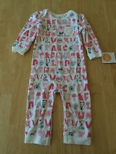 NWT Gymboree Baby Girls Alphabet Animals Romper Long Sleeve 3 6 12 18 M