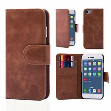 32nd® Premium Leather Wallet Case for Apple iPhone 7, case made from genuine l