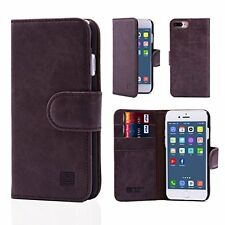 32nd® Premium Leather Wallet Case for Apple iPhone 7 Plus, case made from genu