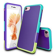 iPhone 7 Case, TILL(TM) Ultra Slim 3 Color Hybrid Impact Anti-slip Shockproof S