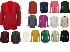 New Women Ladies Chunky Cable Knit Knitted Baggy Cardigan Sweater Top Size 8-16