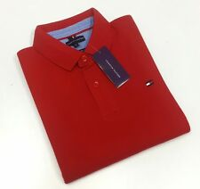 Red New Tommy Hilfiger Premium Polo T-Shirt Men - EXPORT SURPLUS SALE