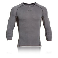Under Armour HeatGear Mens Grey Long Sleeve Sports Compression Running Top