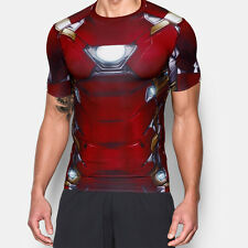 Under Armour Iron Man Alter Mens Red Compression Short Sleeve T Shirt Tee