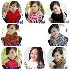 Unique Fashion Girl/Womens Winter Knit Infinity Circle Scarf
