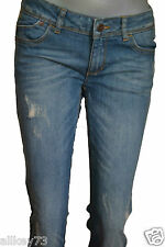 ESPRIT STRETCHIGE RÖHRENJEANS USED-WASHED-JEANS DAMEN SKIN SLIM