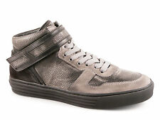 Sneakers alte Hogan Rebel uomo in pelle nero anticato