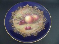 ROYAL WORCESTER H/PAINTED FRUIT PLATE PEACHES & CHERRIES 8.5.in PLATE BY H PRICE