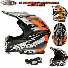 3GO E66 Casco Moto Sportivi Quad off road Motocross ATV PIT Scooter MX occhiali