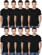 10 Combo Pack Single Colour Black-Men's Round Neck Tshirts- Bulk Order Available