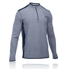 Under Armour ColdGear Infrared Mens Blue Long Sleeve Half Zip Outdoor Sports Top