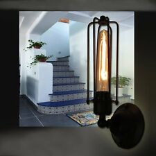 HL304 vintage industrial wall light brass and glass lamp retro sconce cage