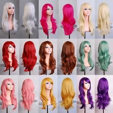 70cm long curly black/redpink/brown 12colors Anime Cosplay wig,High quality wome