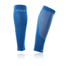 2XU Performance Mens Womens Blue Running Compression Fitted Calf Sleeves