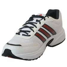 Adidas Brand Mens Alcor 1.0 White Red Running Sports Shoes