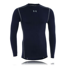 Under Armour Mens Navy Blue Coldgear Compression Crew Neck Warm Running Top