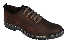 LEE GRAIN BRAND MENS BROWN LACE CASUAL SHOES 8607