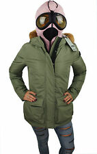 PARKA DONNA AI RIDERS ON THE STORM VERDE MILITARE GIUBBOTTO GIACCA NEVE LENTI 42