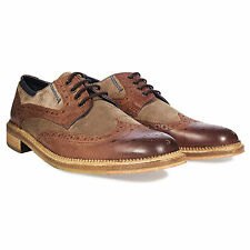 Goodwin smith two tone weir tan brogue shoes export surplus stock lot