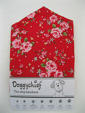 RED ROSES Dog Bandana by Doggychief -  More designs available - All sizes