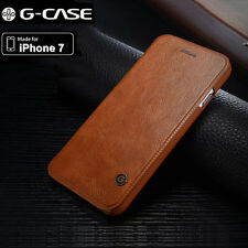 Genuine G-case Slim Leather Wallet Card Case Flip Cover For iPhone 7 / 7 Pl