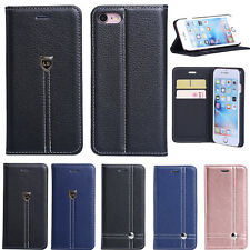 For Apple iPhone 7 / 7 Plus Luxury Flip Cover Stand Wallet Card Leather Cas