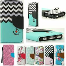 Retro Leather Skin Wallet Cover Case For Apple iPhone 5 / 6 / 6Plus Phone