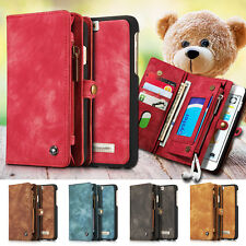 Leather Magnetic Removable Wallet Flip Case Cover For Samsung Galaxy & iPho