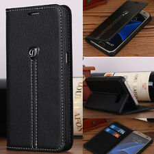 For Samsung Galaxy S7 Edge Luxury Flip Leather Cover Stand Card Wallet Case