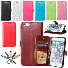 Luxury Leather Photo Flip Stand Wallet Case Cover For Apple iPhone 5s 6 6s