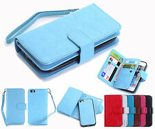 NEW Magnetic Flip Luxury Leather Wallet Case Cover for Apple iPhone 5 SE 6s