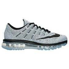 NIKE Men's Air Max 2016 Running Shoes Sneakers Black White Grey Traction Ru