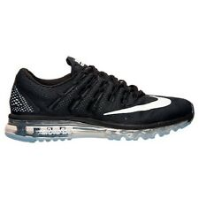 NIKE $190 Men's Air Max 2016 Running Shoes Sneakers Black White Grey Tracti