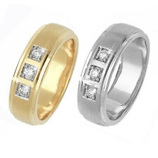 9ct Bague Mariage Or Blanc Et Jaune Ensemble De Diamants