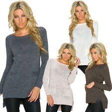femmes pull pull poches taille uniqie M 36 38 CHAUD HIVER TOP SEXY