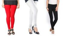 Pack of 3 Cotton Lycra Leggings Red White Black