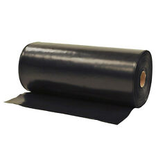 20m x 5m Black Polythene Sheeting Heavy Duty Plastic Cover for Outdoor Garden