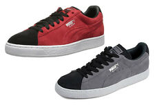 Puma Mens Suede Classic + Shoes Sneakers - Red / Black & Gray