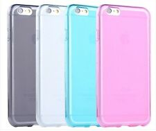 For Apple iphone 6 / 6S Soft Matte Flexible TPU Back Cover Case