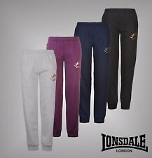 Ladies Branded Lonsdale Soft Fleece Lined Sweat Pants Jogging Bottoms Size 8-18