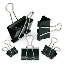 Foldback Clips Metal Grip Clip IDEAL FOR Paper Filing -PACK OF 10 (CHOOSE SIZE)