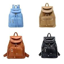 Vintage Women's Backpack Travel PU Leather Handbag Rucksack Shoulder School Bag