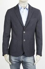 GIACCA UOMO MARKUP IN MISTO LANA SLIM  2 BOTTONI CON SPACCHI BLU TWEED