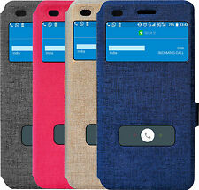 For Infocus M808 Double Window Caller ID PU Leather Flip Cover Case