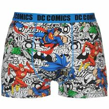 MENS DC COMICS SUPERMAN BATMAN FLASH BOXERS BOXER SHORTS UNDERWEAR TRUNKS PANTS