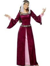 Ladies Medieval Maid Marion Princess Outfit Fancy Dress Costume