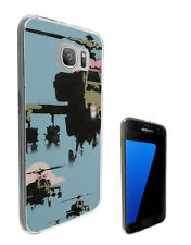 2278 Banksy Helicopters Case Cover For Samsung Galaxy J3 J5 A3 A5 S6 S7 Edge